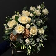 White funeraldecoration