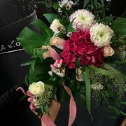 Pink, red and white mother and child bouquet