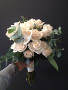 Half hight weddingbouquet made of roses