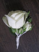 Corsage made of white roses 2