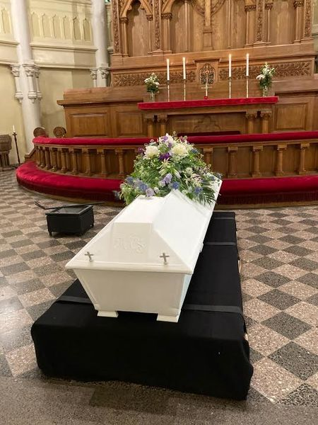 Summer funeral arrangment for coffin