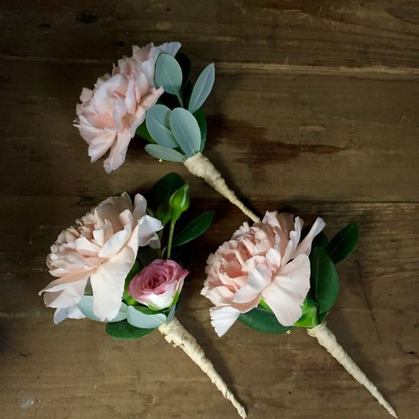 Pink carnation and rose corsage