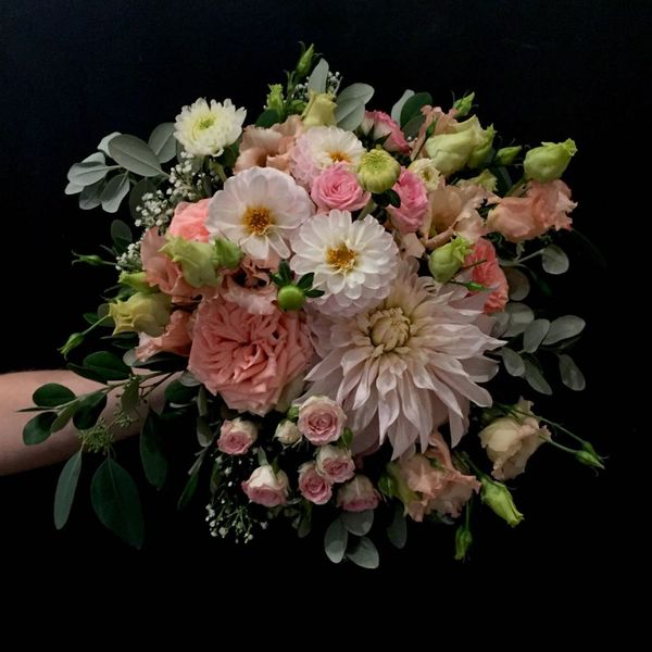 Pastel mix weddingbouquet