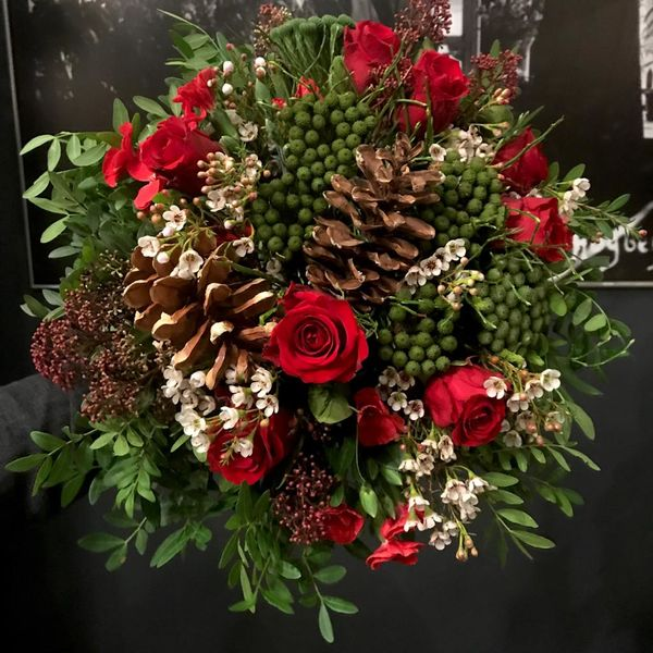 Red christmasbouquet 4