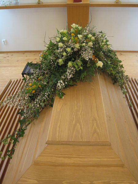 Funeral arrangment for coffin made of natural flowers  1