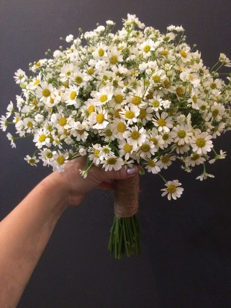 Weddingbouquet made of daisies
